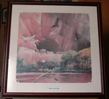 "Spirit Of The Eagle - Signed Lithograph - How Many Eagles Are There? 27"" x 27"""