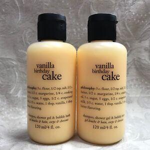 Image Is Loading Philosophy VANILLA BIRTHDAY CAKE Shampoo Shower Gel Set