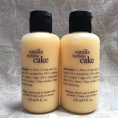 Miraculous Philosophy Vanilla Birthday Cake Shampoo Shower Gel Set 4 Oz Birthday Cards Printable Giouspongecafe Filternl