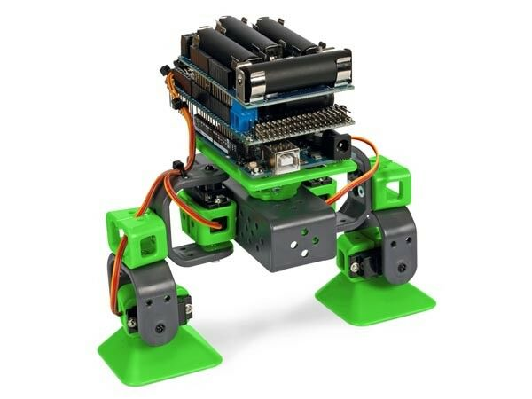 ROBOT ARDUINO ALLBOT PROGRAMMABLE A 2 PATTES AVEC SHIELD ARDUINO APP ANDROID IOS