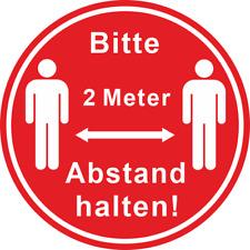 "Bitte 1,5 Meter /""Abstand halten/"" Ø 20cm Aufkleber Corona 8094"