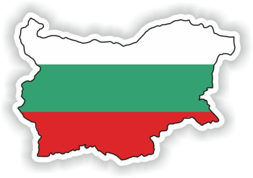 Bulgaria MAP FLAG Sticker SILHOUETTE Motorcycle Car Helmet Laptop
