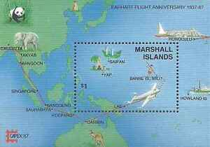 Timbre-Avions-Marshall-BF3-lot-21857