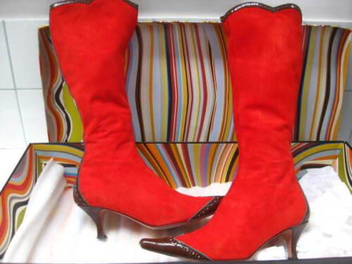 rossi Paul gattini autentici Stivaletti in Smith ginocchio 5 misura alti Donna al pelle tacchi scamosciata n6qYYfX0A