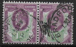 SG221-1-amp-1-2d-Dull-Purple-amp-Green-Fine-Pair-With-Fresh-Colour-amp-Perfs-Ref-0715