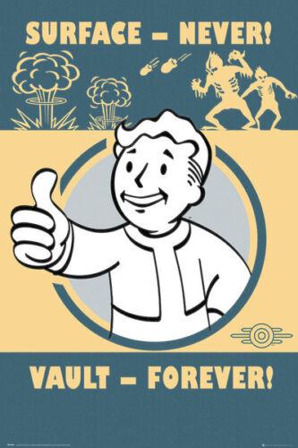 Fallout 4 POSTER-fp4149 Vault per sempre-Nuovissimo