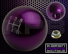 PURPLE JDM BALL ROUND SHIFT KNOB FOR SHORT THROW GEAR SHIFTER SELECTOR M10X1.5