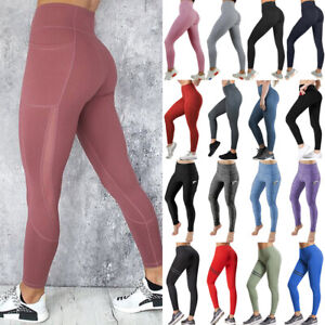 Women-Sport-Pants-High-Waist-Yoga-Fitness-Leggings-Running-Workout-Gym-Trousers