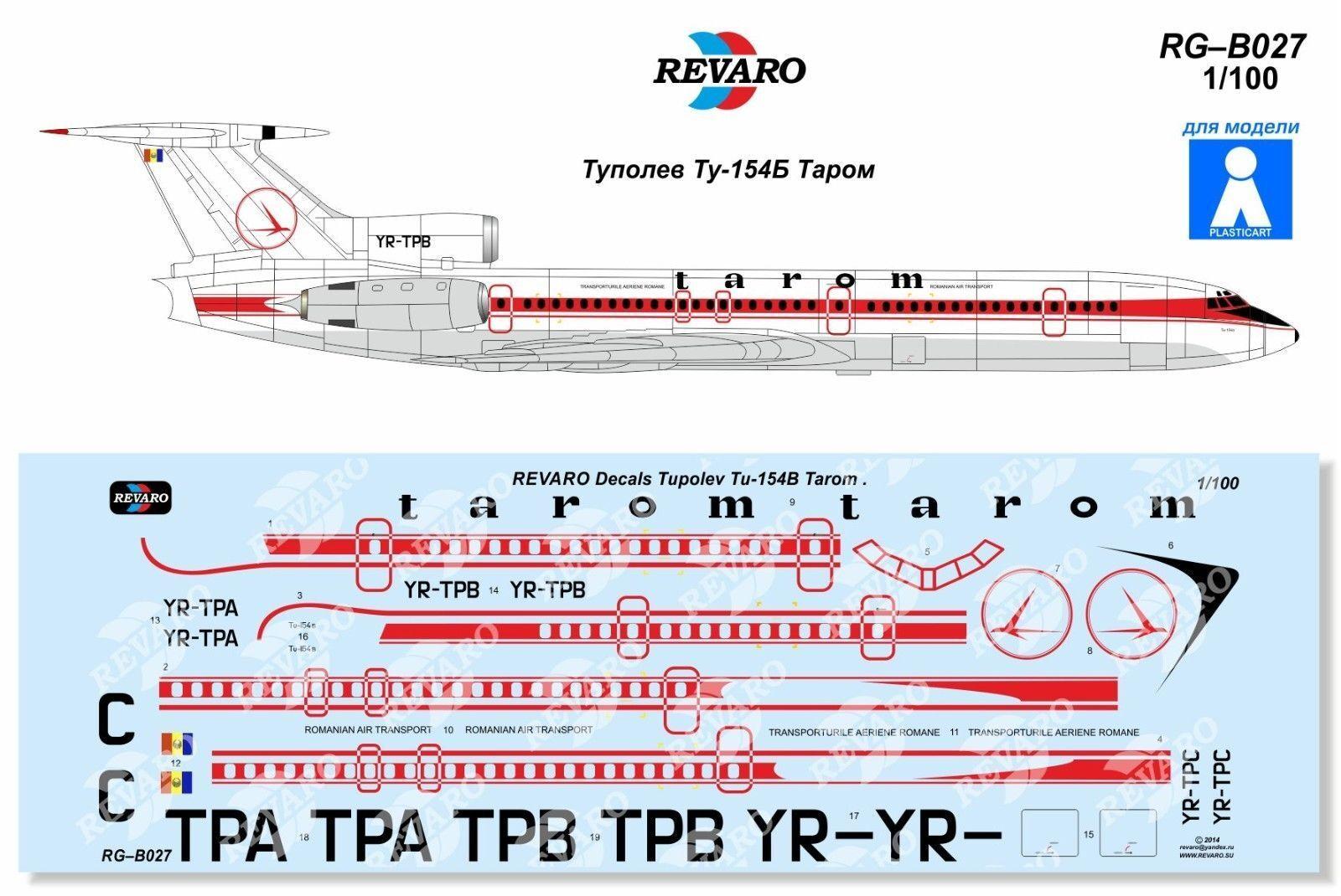 Tupolev Tu-134 Atyrau Airways decal 1\100 for VEB Plasticart