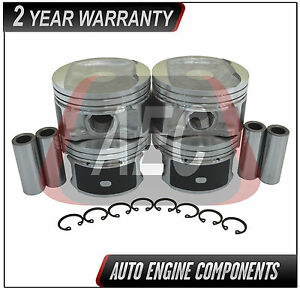 Piston Set Fits Nissan Cube Versa Tiida 1.8 L MR18DE DOHC - SIZE 040