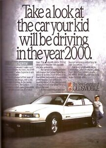 1988 Cutlass Supreme Not Your Fathers Oldsmobile Original Print Advertisement Ad