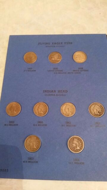 Flying Eagle Set/ Indian Head Cent Collection, 1857-1909, 1872, 1871, 1908 s