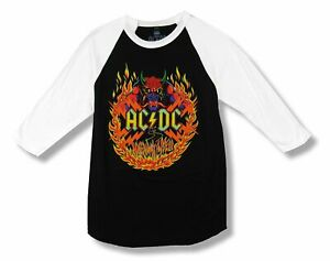 AC//DC Shirt Classic Band Logo All over Print Highway to Hell new Official Mens