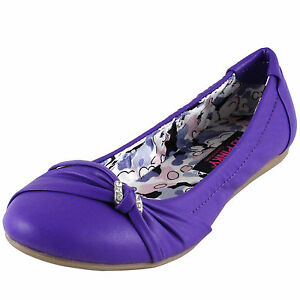 New women/'s shoes ballet flat ballerina synthetic casual summer work black