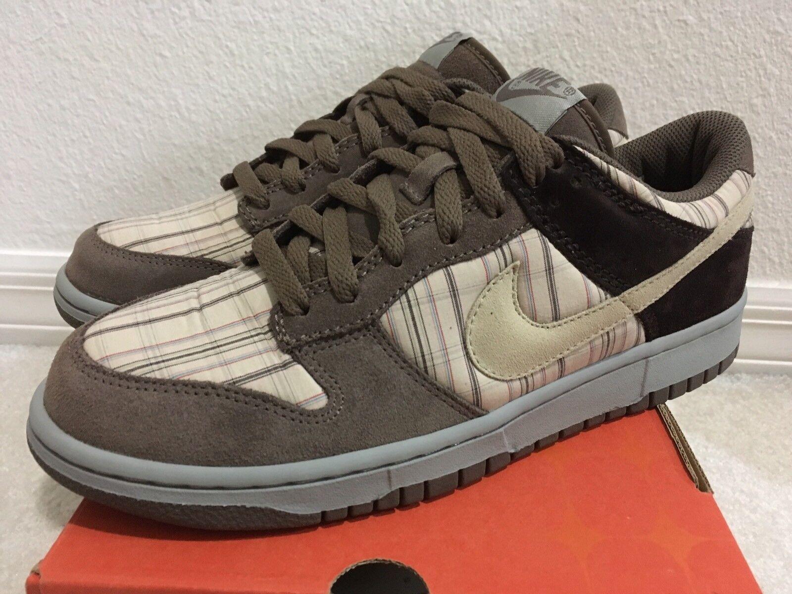 Nike Dunk Low Premium Net Palomino Plaid Brown Men Sz 9.5 307696-111