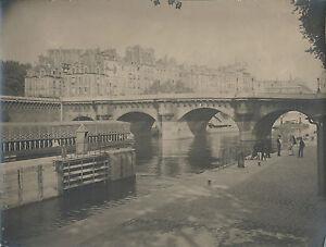 PHOTOGRAPHIE-ANIMEE-PONT-NEUF-PARIS-1918-TIRAGE-ARGENTIQUE-D-039-EPOQUE
