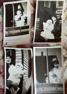 Vintage post mortem and grave photo lot