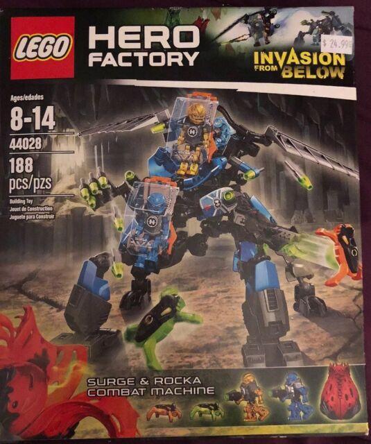 Hero Factory Lego Invasion From Below 44028 Surge Rocka Combat