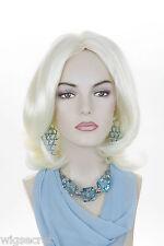 White Blonde Blonde Medium Skin Top Wavy Straight Wigs