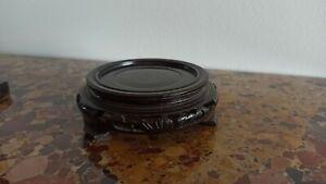 SOCLE en bois ajouré pour vase statuette Chinoise ou autre...