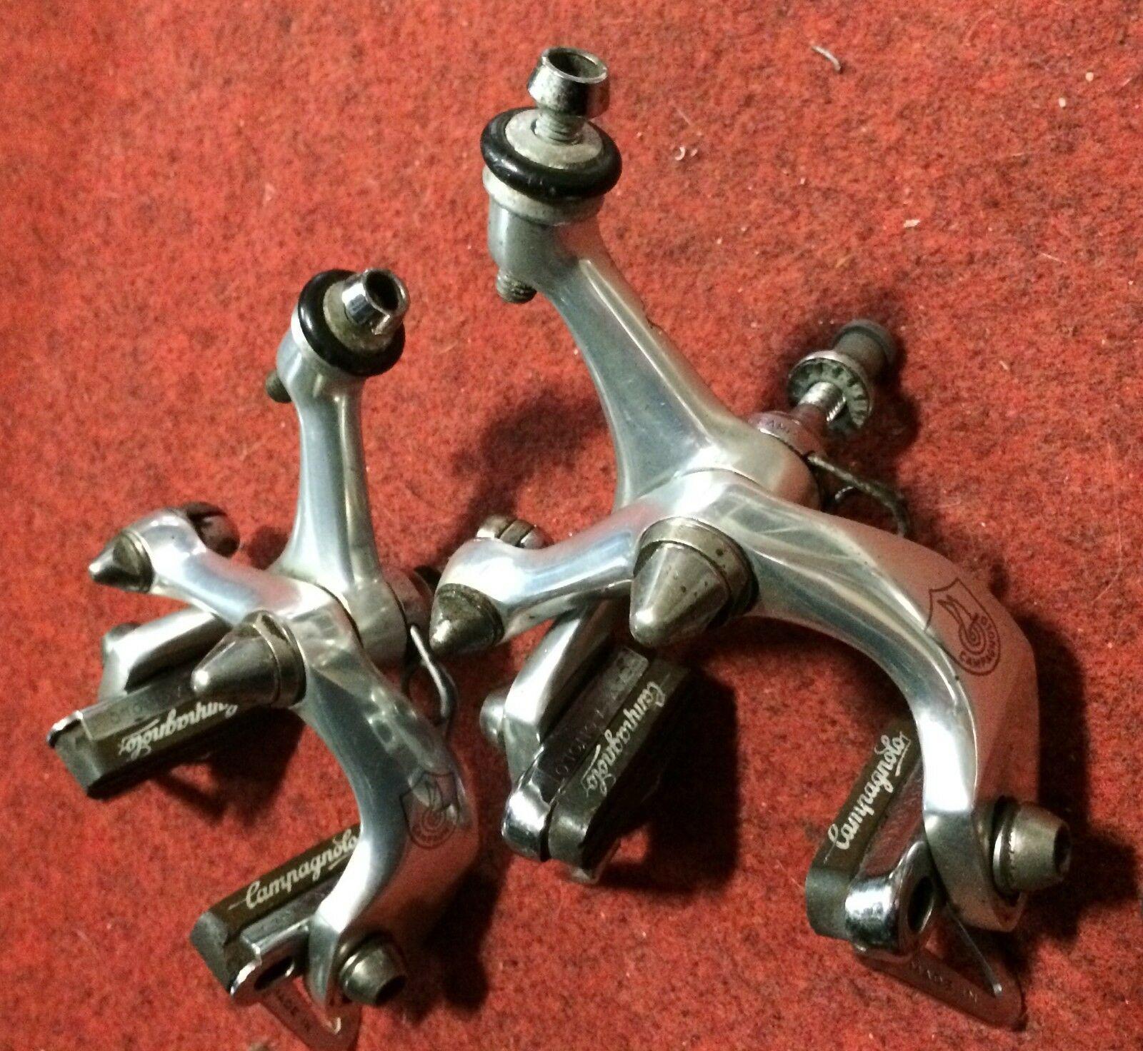 Coppia freni bici corsa Campagnolo vintage road bike brake set couple