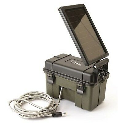 Stealth Cam 12V Battery Box with Solar Panel HME-12VBBSLR