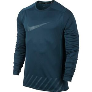 Nike L Men s Dry Miler Long Sleeve Running Top Shirt NEW 856878-425 ... 57d77765b