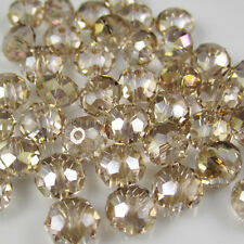 Jewelry Faceted 100 pcs Champagne AB #5040 3x4mm Roundelle Crystal Beads DIY L2