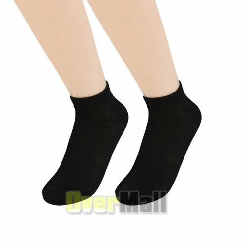 New Lot 6-12 Pairs Mens Womens Ankle Socks Cotton Low Cut Casual Size 9-11 USA