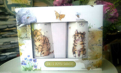 Geschenkset Pfeffer Und Salzstreuer Keramik Katze Katzen Pfefferstreuer Streuer