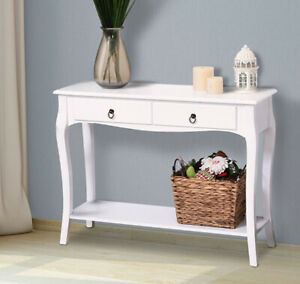 French Style Console Table 2 Drawer 1