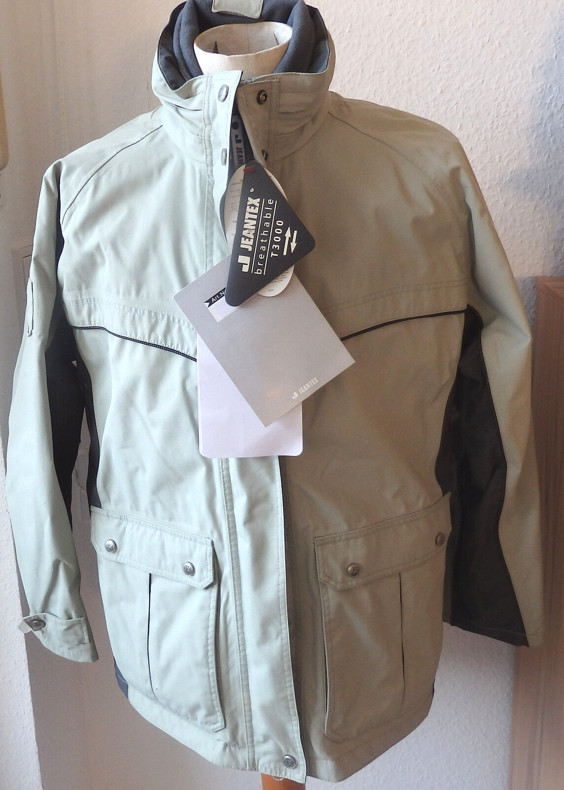Jeantex señora lluvia chaqueta, reitjacke, Hell verde oliva, modelo triska,