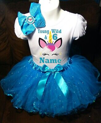 Doc McStuffins Inspired Birthday Tutu Outfit Set Dress Shirt Personalized in Purple Pink and Turquoise Any Age Needed