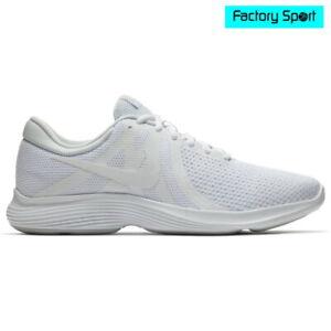 Detalles de Nike Revolution 4 Blanco Zapatillas Deportivas Running para Hombre