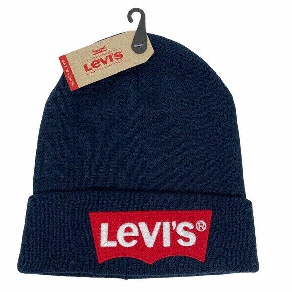 Details about  /New Levi/'s mens navy gloves Sz L wool performance U8