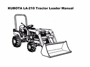 kubota la 210 211 tractor loader parts manuals 125pgs for la210 rh ebay co uk Kubota LA211 Front End Loader kubota la211 owners manual