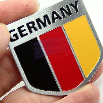 Yellow D Metal Emblem Badge Sport Germany Land Flag Sticker Decal For BMW