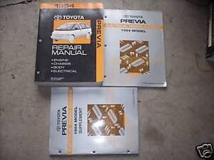 1994 TOYOTA PREVIA Service Repair Shop Manual Set W ELECTRICAL WIRING DIAGRAMS