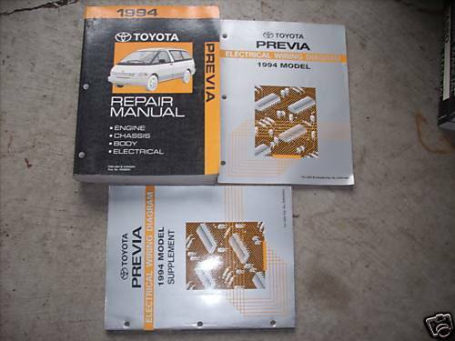 1994 Toyota Previa Service Repair Shop Manual Set W Electrical Wiring Diagrams