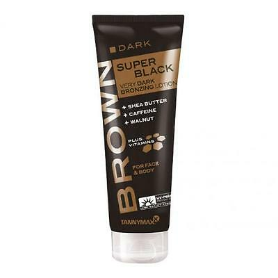 Tannymaxx Super Black Bronzer Very Dark Bronzing Face Body Tanning Lotion -125ml