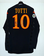 AS ROMA 2009/10 Match Worn/Issued Shirt TOTTI #10 Kappa maglia away autografata