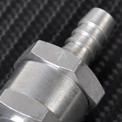 """8mm 5//16/"""" Rückschlagventil Für Kraftstoffe-Benzin Diesel Pflanzenöl Alu Qualität"""