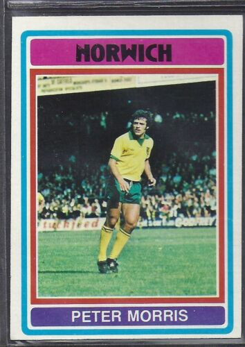 TOPPS-FOOTBALL -#117- NORWICH CITY BLUE BACK 1976 PETER MORRIS