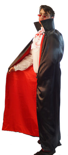 HALLOWEEN//Dracula//Ripper//Creepy THE COUNT Cape Neck Ruff Fake Blood /& Glasses