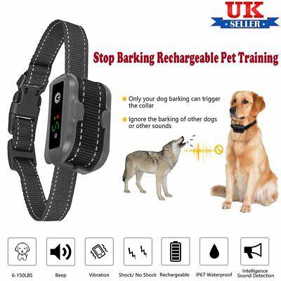 Dog Bark Collar Beep Vibration Shock//Not Shock Detection - Rechargeable Anti Barking Smart Collar Upgraded 2019 Bark Collars Stop Barking for Small Medium Large Dog