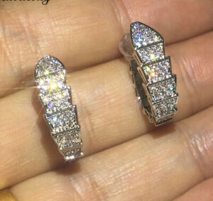 1Ct-Round-Cut-VVS1-D-Diamond-Push-Back-Hoop-Earrings-Solid-14K-White-Gold-Finish