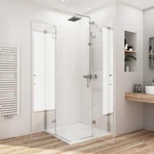 Duschwand Duschkabine Eckeinstieg 80x80 75x90 100x100 Duschabtrennung ESG Glas | eBay