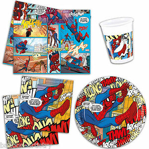 Ultimate-Spider-Man-Comic-Book-Art-Party-Plates-Cups-Napkins-Tableware-Listing