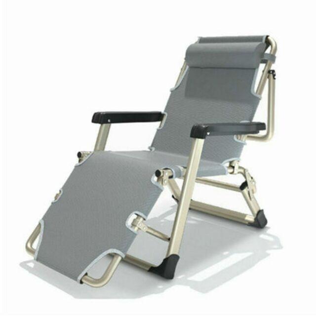 Pliable Chaise Longue de Jardin Pliante Transat Bureau Relax Fauteuil Pliant
