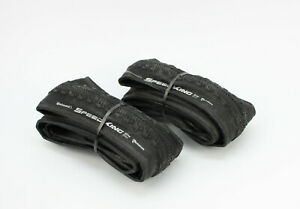 2x-Continental-SpeedKing-CX-35mm-CycloCross-Gravel-Reifen-Falt-700x35C-35-622